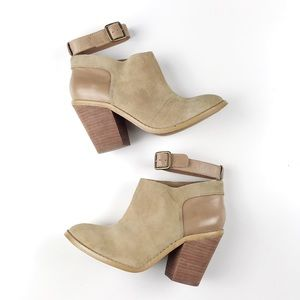 Anthropologie Kelsi Dagger Tan Vegan Suede Booties